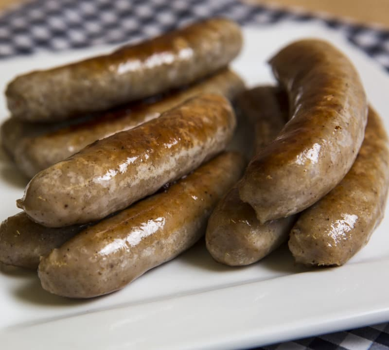 Jane Russells's sausages shot for Irish Country Magazine